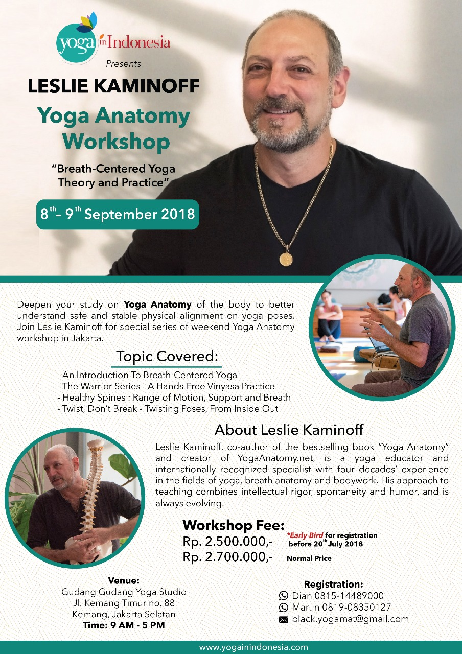 Yoga Anatomy Workshop with Leslie Kaminoff