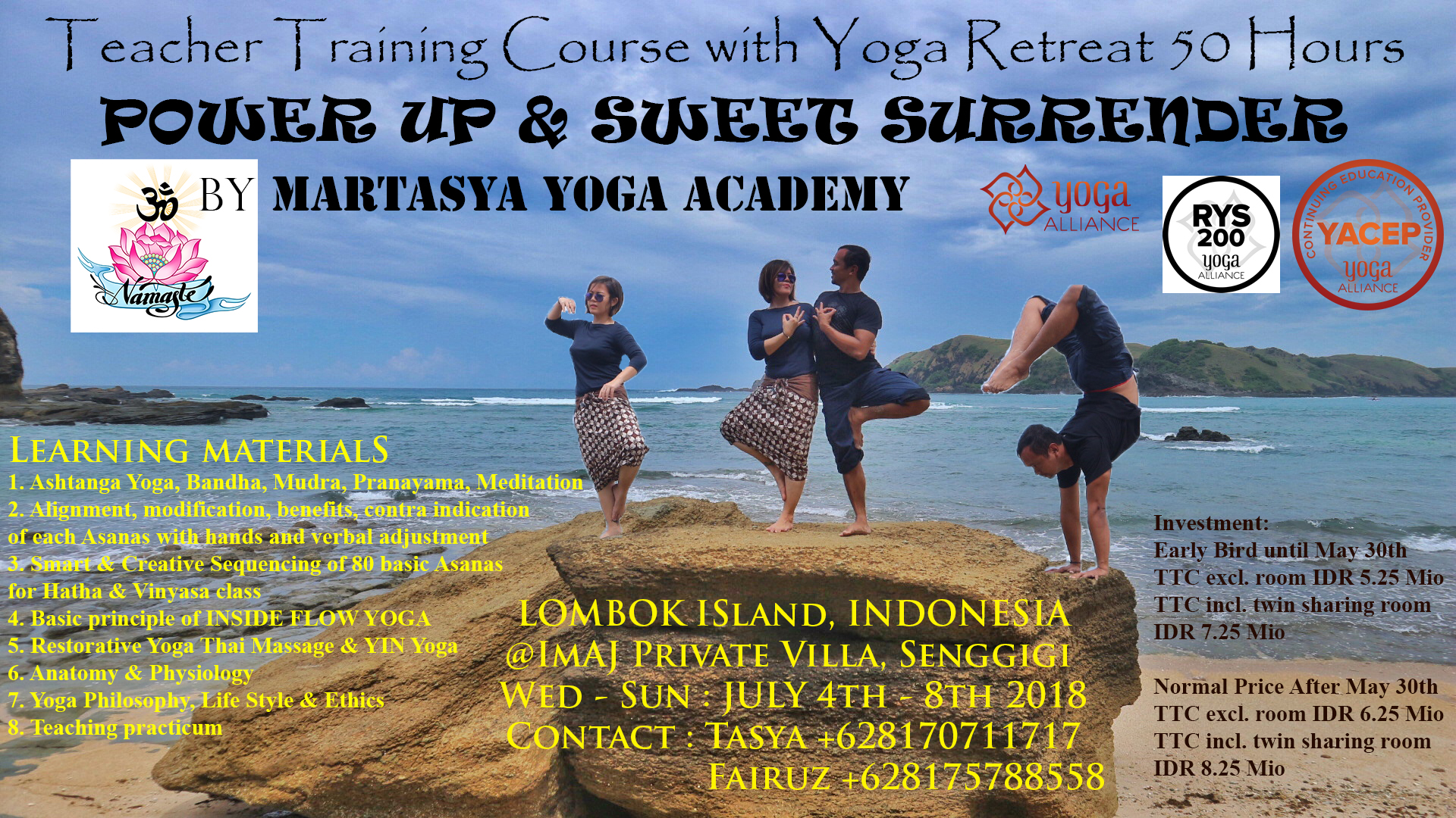 Teacher Training Course with 50-Hour Yoga Retreat to Lombok