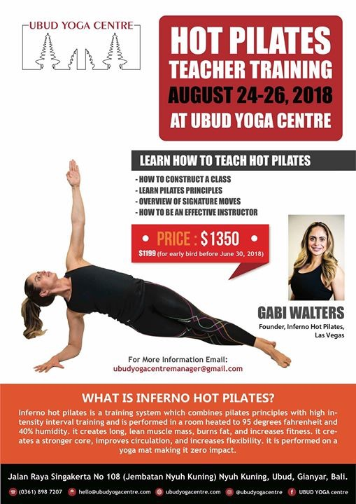 Hot Pilates Teacher Training at Ubud Yoga Center