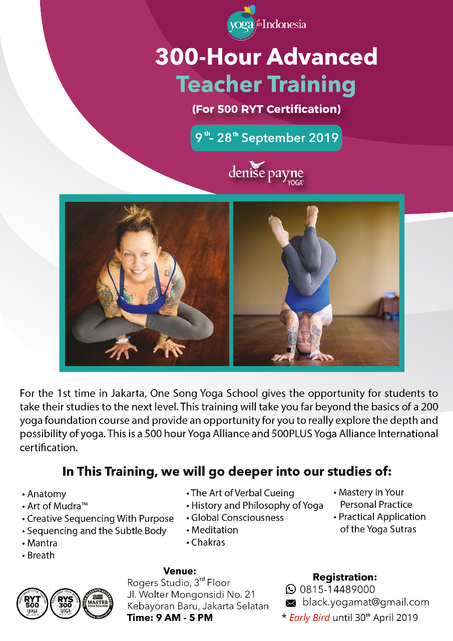 300-Hour Advanced Teacher Training with Denise Payne
