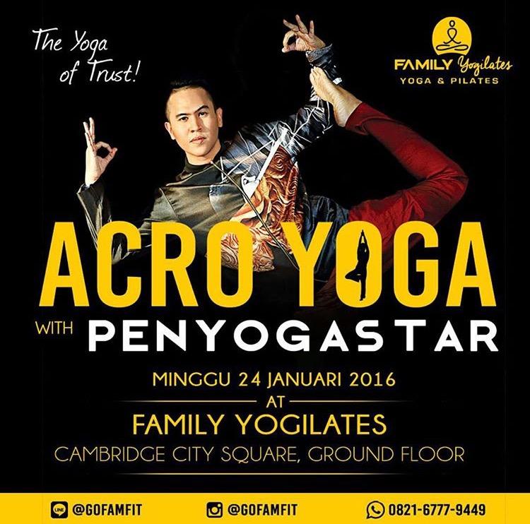 AcroYoga With Penyogastar At Family Yogilates Medan