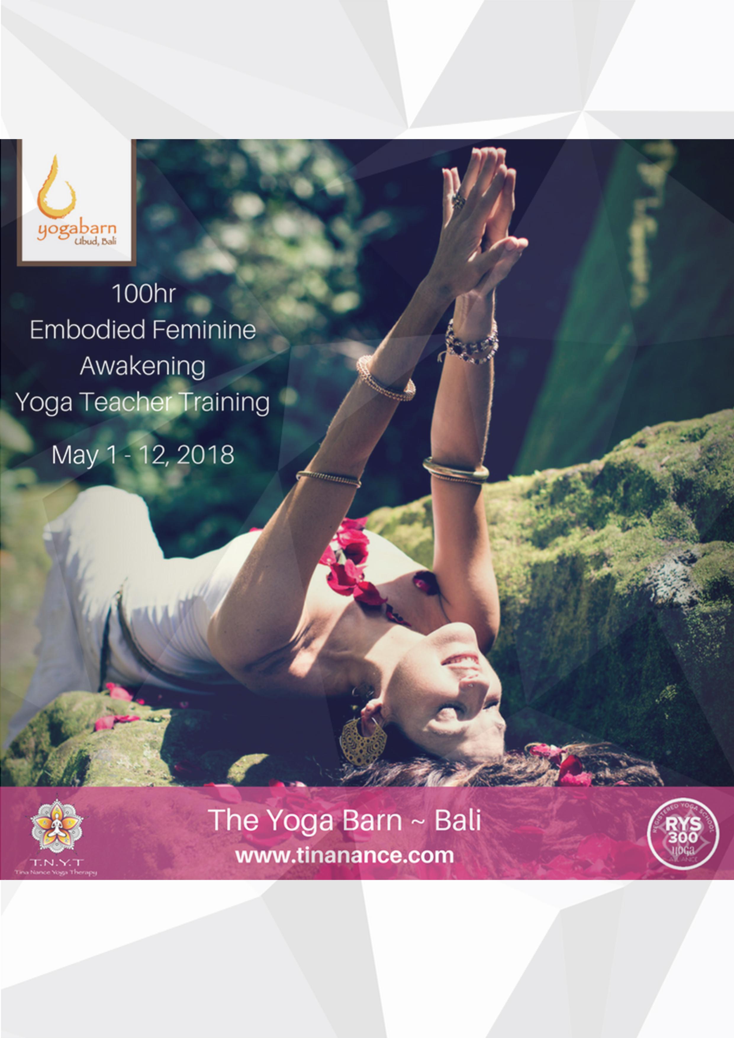 100-Hour Embodied Feminine Awakening Yoga Teacher Training with Tina Nance