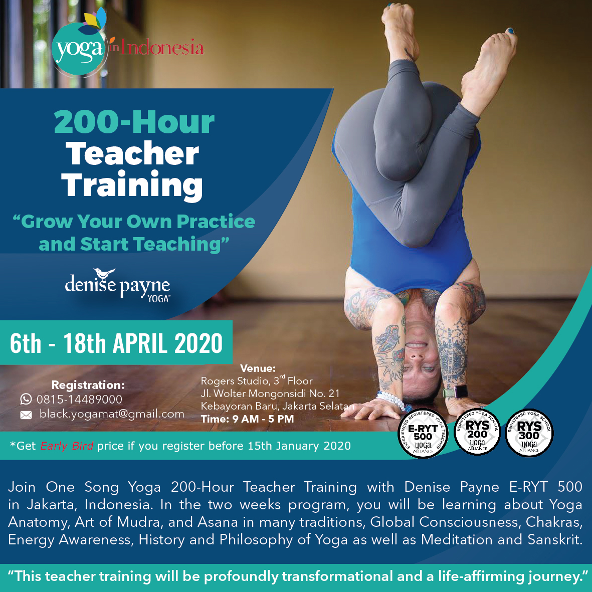 200-Hour Teacher Training with Denise Payne