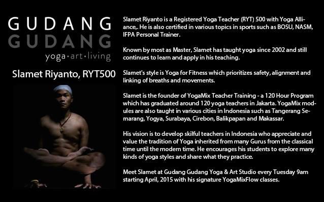 Meet Slamet Riyanto At Gudang Gudang Yoga Studio