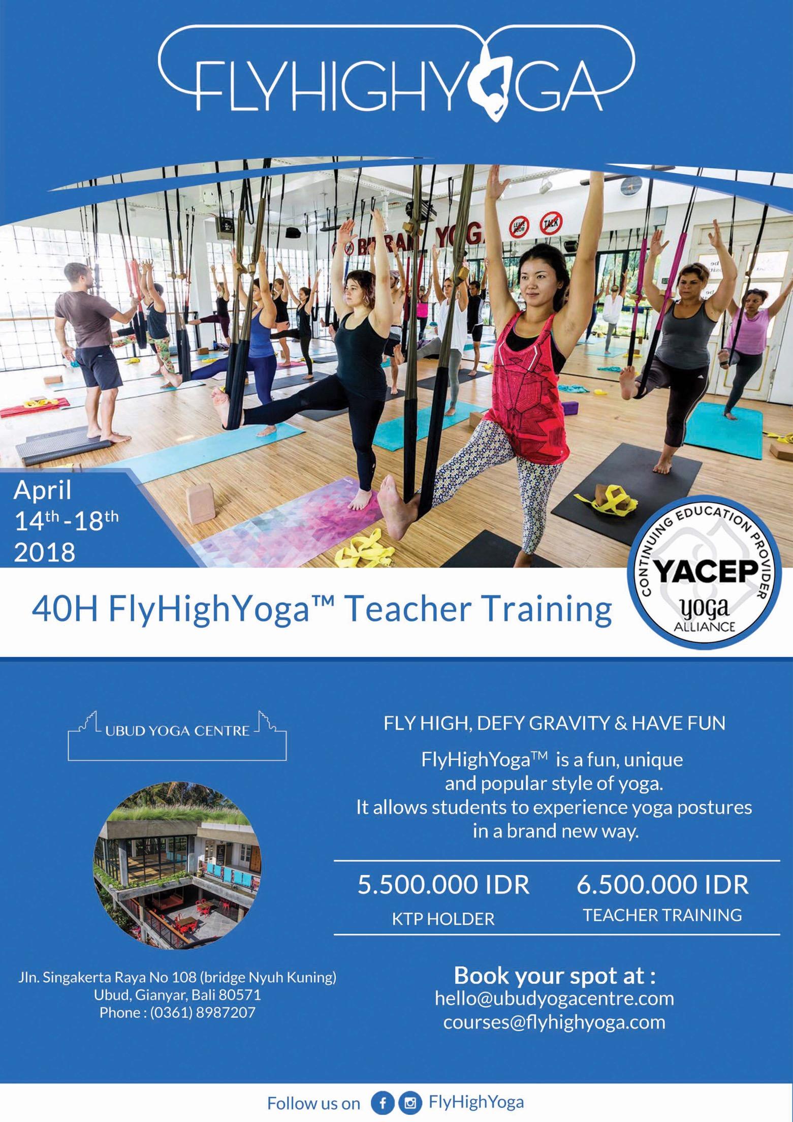 40-Hour Fly High Yoga Teacher Training at Ubud Yoga Center