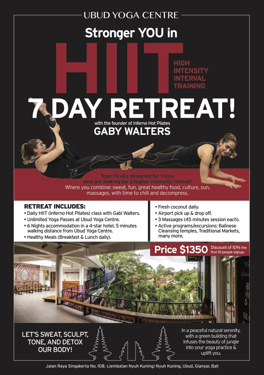 7 Day Retreat with Gaby Walters with Ubud Yoga Centre Bali